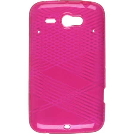 Wireless Solutions Dura-Gel TPU Criss Cross Case for HTC Status (Pink)
