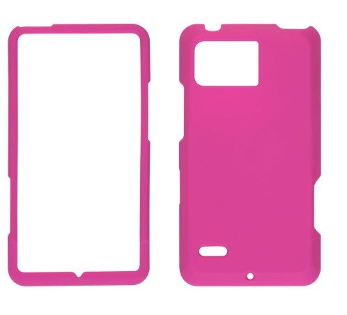 Wireless Solutions Soft Touch Snap-On Case for Motorola Droid Bionic XT875 -Pink
