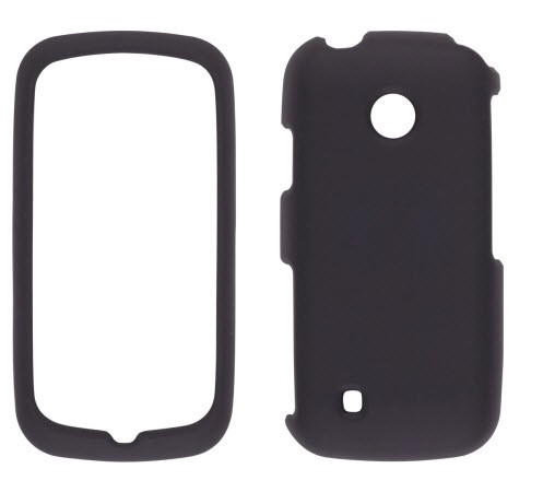 Wireless Solutions Soft Touch Snap-On Case for LG Cosmos Touch VN270 - Black