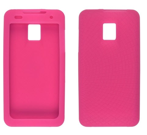 Wireless Solutions Radiant Silicone Gel Case for LG G2X P999 (Watermelon)