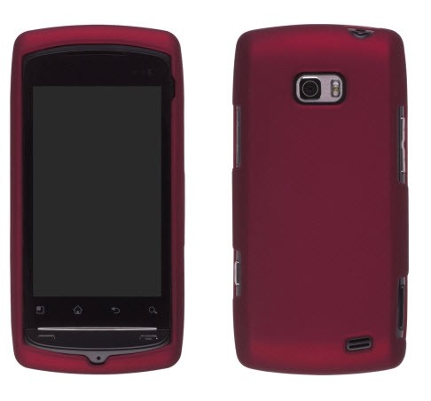 Wireless Solutions Soft Touch Snap-On Case for LG Axis AS740 / Apex US740 (Dark Red)
