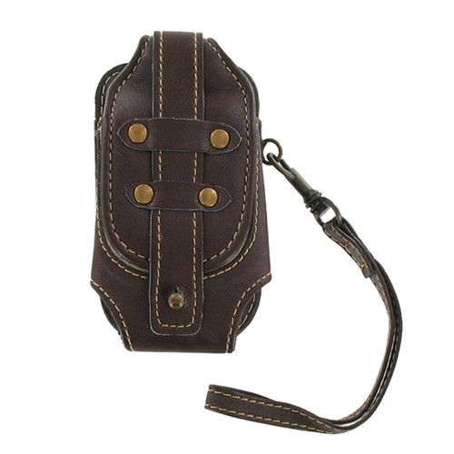Xentris - Universal Slim Fashion Rugged Pouch with Wrist Strap - Brown