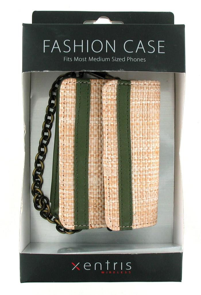 Xentris Universal Fashion Case for Medium Sized Phones (34-1878-01-WM) - Weave / Green