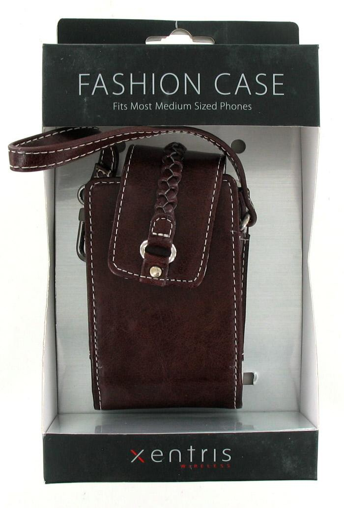 Xentris Universal Fashion Case for Medium Sized Phones (34-1879-01-WM) - Chocolate Brown