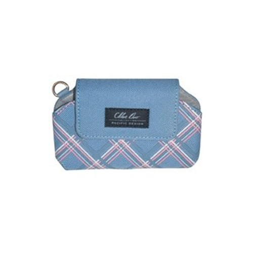 Chloe Dao Universal Slim Compact Case (Blue / Pink / White Pattern)