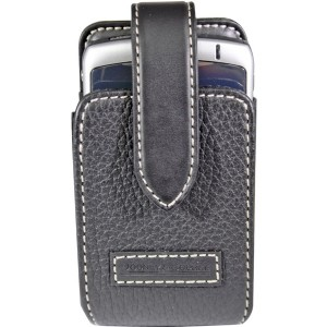 Dooney & Bourke Universal Fashion Case for Medium Sized Phones (34-2072-01-RS) - Black Leather