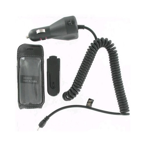 Starter Kit - Leather Case & Car Charger for Nokia 2135