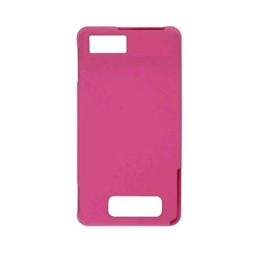 Soft Touch Snap-On Case for Motorola DROID Xtreme MB809/MB810 (Hot Pink)
