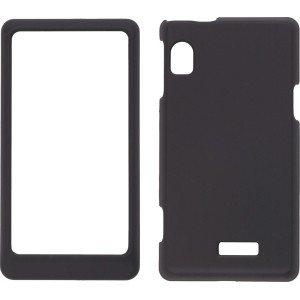 Soft Touch Case for Motorola A954 A955 Droid 2  - (Black)