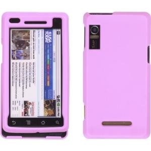 Two piece Soft Touch Snap-On Case for Motorola Droid A855, Milestone A854, Pink