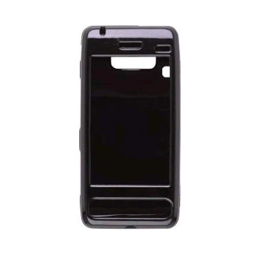 Rubberized Snap-On Case for LG Fathom VS750 - Black