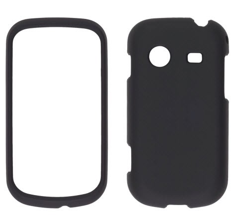 Wireless Solutions Soft Touch Snap-On Case for Samsung Character SCH-R640 -Black