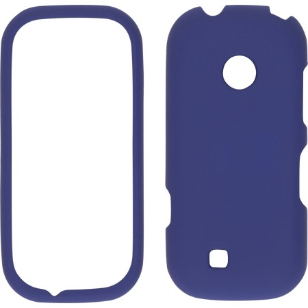 Wireless Solutions Soft Touch Snap-On Case for LG VN251 Cosmos 2 - Dark Blue