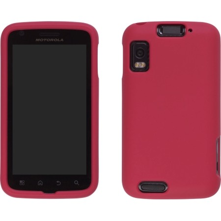 Red Soft Touch Snap-On Case for Motorola Atrix 4G