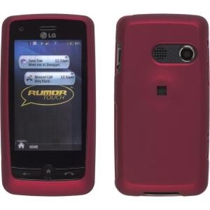 Soft Touch Snap-On Case for LG LN510 Rumor Touch / Banter Touch (Red)