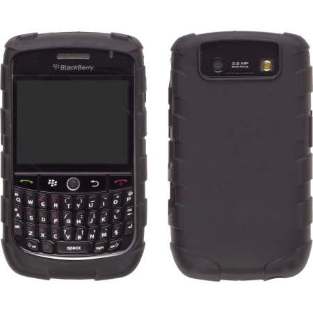 Black Rugged Silicone Gel Skin Case for BlackBerry 8900 Curve
