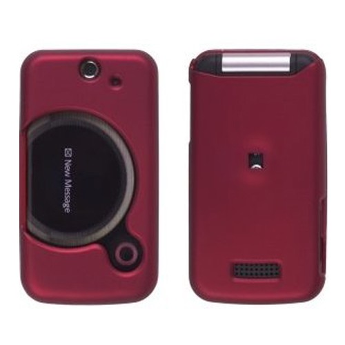 Wireless Solutions Soft Touch Snap-On Case for Sony Ericsson T717 Equinox - Red