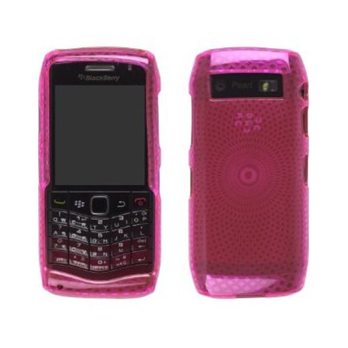 Wireless Solutions Dura-Gel Case for BlackBerry Pearl 9100 - Pink Diamonds
