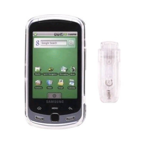 Wireless Solutions  Snap-On Case for Samsung SPH-M900, Instinct Q, Moment - Clear