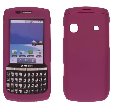 Wireless Solutions Soft Touch Snap-On Case for Samsung Replenish SPH-M580 -Berry