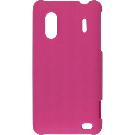 Soft Touch Snap-On Case for HTC EVO Design 4G, Hero S (Plum Pink)