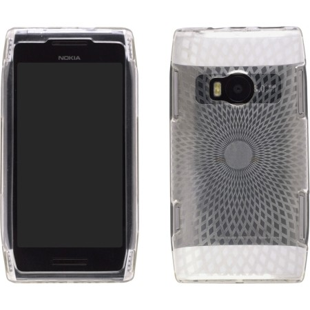 Diamonds Dura-Gel TPU Case (Clear) for Nokia X7