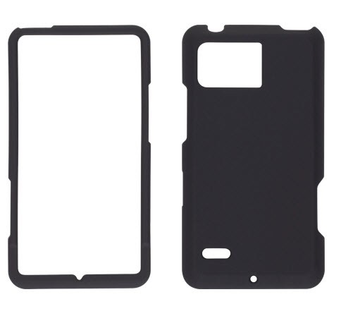 Wireless Solutions Soft Touch Snap-On Case for Motorola Droid Bionic XT875-Black