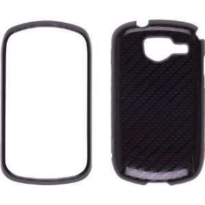 Wireless Solutions Carbon Fiber Snap-On Case for Samsung Brightside U380 - Black/Gray