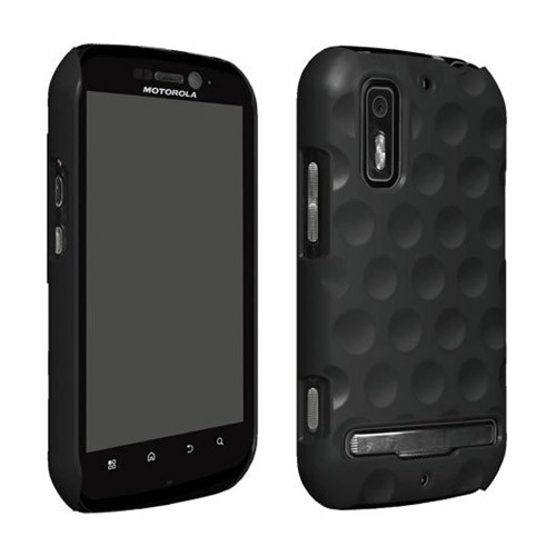 Wireless Solutions Dimples Snap-On Case for Motorola Photon 4G (Electrify Black)
