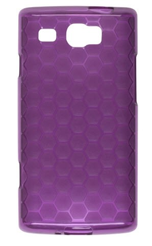 Wireless Solutions Honeycomb Dura-Gel Case for Samsung SGH-I677 - Eggplant