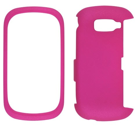 Wireless Solutions Soft Touch Snap-On Case for LG Octane VN530 - Frosted Pink