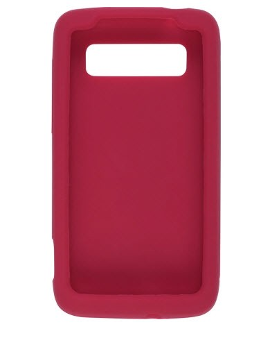 Ventev - Premium Smooth Silicone Gel Case for HTC Trophy - Red