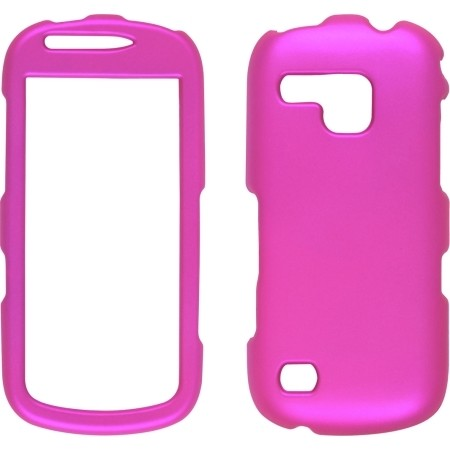 Two piece Soft Touch Snap-On Case (Front/Back) for Samsung SCH-I400 Continuum, Hot Pink