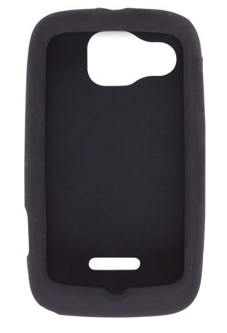 Wireless Solutions Silicone Gel Case for Motorola Citrus WX445 - Black