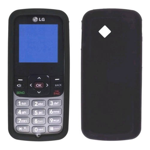 Wireless Solution Premium Silicone Gel Skin Case for LG LG100 - Black