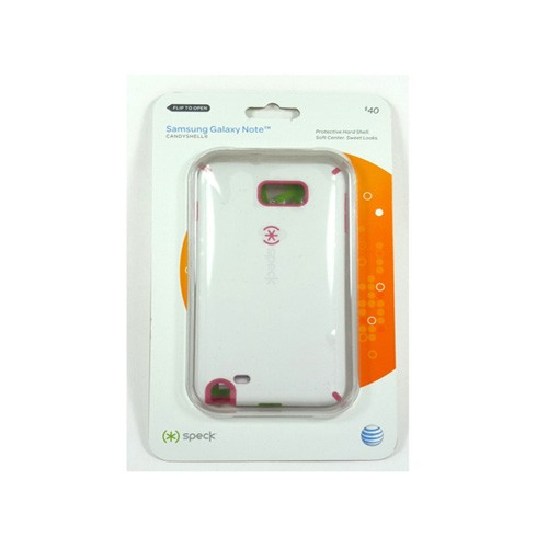 Speck CandyShell Case for Samsung Galaxy Note GT-N7000 / SGH-i717 (White/Pink)