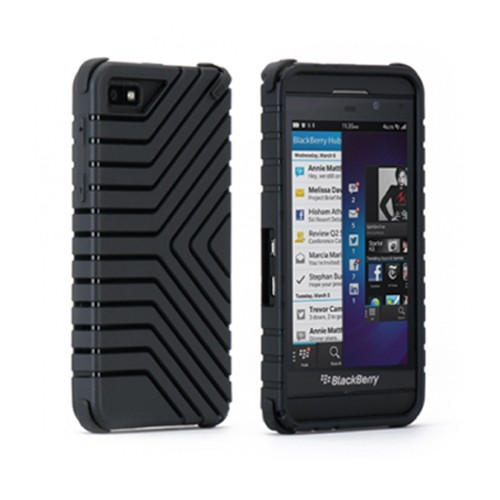 Puregear Griptek Case for Blackberry Z 10 (Black) - 60104PG