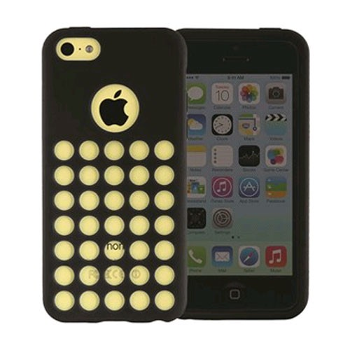 Xentris Wireless Silicone Shell Case for Apple iPhone 5C - Black