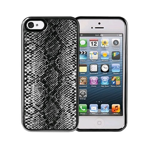 Xentris Wireless Hard Shell for Apple iPhone 5/5S - Black Python