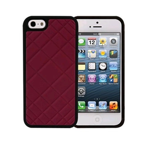 Xentris Wireless Hard Shell for Apple iPhone 5/5S - Burgundy Quilt