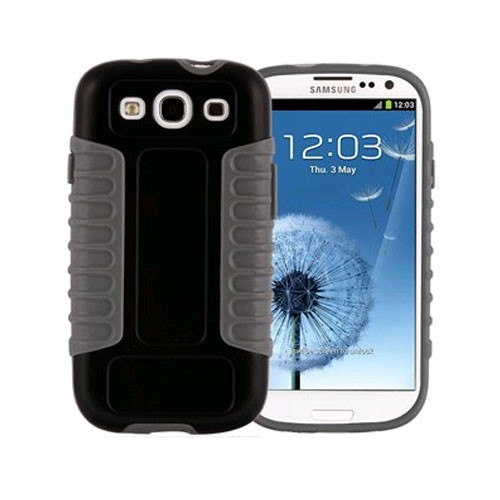 Xentris Wireless Hybrid Shell for Samsung Galaxy S III - Black/Gray