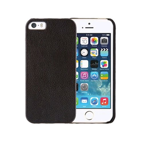 Xentris Wireless Hard Shell for Apple iPhone 5/5S - Black Leather