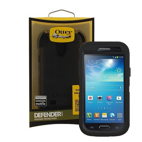 new product 3d5f2 5ed84 Otterbox Defender Case for Samsung Galaxy S4 Mini - Black/Black