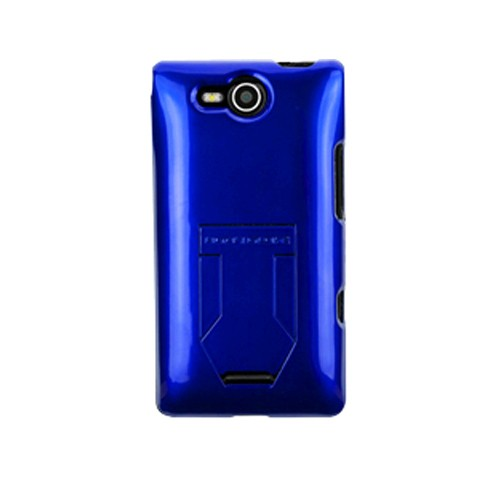 Body Glove Kickback Vibe Case with Hideaway Stand for LG VS840 Cayman/Lucid 4G (Blue) - 9258801
