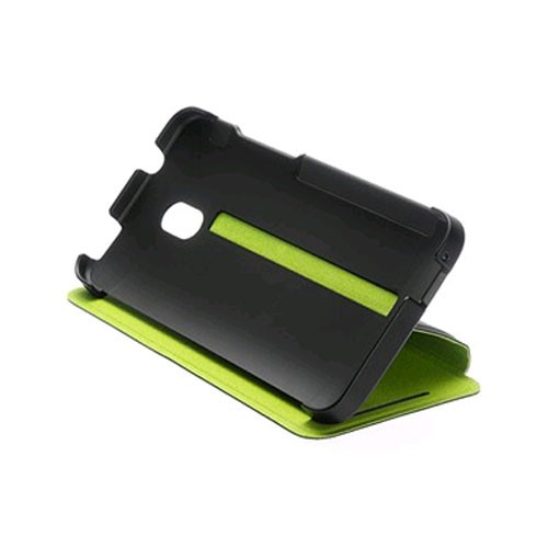 HTC Double Dip Flip Case for HTC One Mini (M4) - Black/Lime
