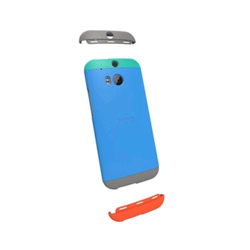 HTC Double Dip Case for HTC One (M8) - Teal/Swing Blue/Gray