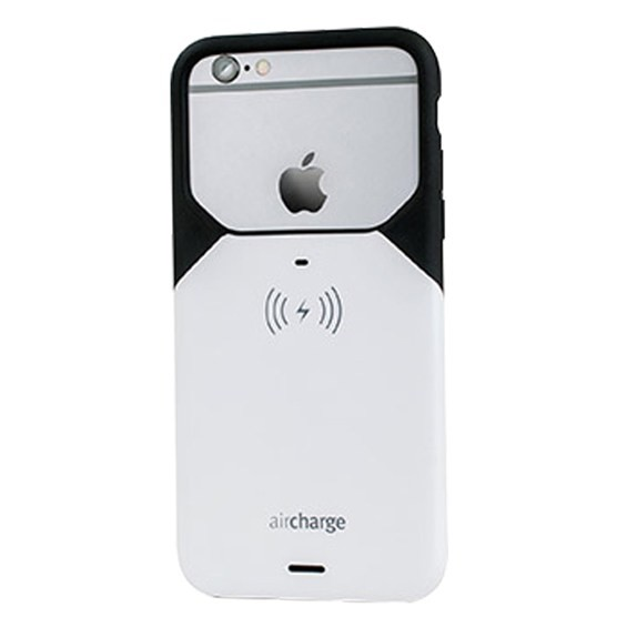 aircharge Wireless Charging Case for Apple iPhone 6/6S - White/Black