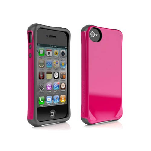AGF Ballistic Aspira Series Case for Apple iPhone 4 / 4S (Raspberry Pink/Charcoal Gray)