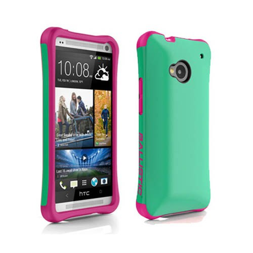 AGF Ballistic Aspira Case for HTC One / M7 (Mint Green/Strawberry Pink)