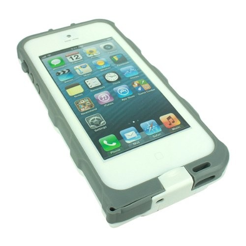 bFree Waterproof Case for Apple iPhone 5  (White/Gray)